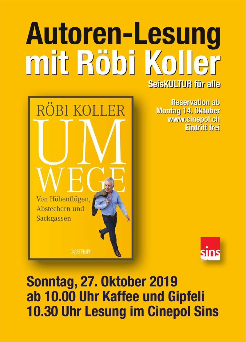 Autoren Lesung  mit Röbi Koller
